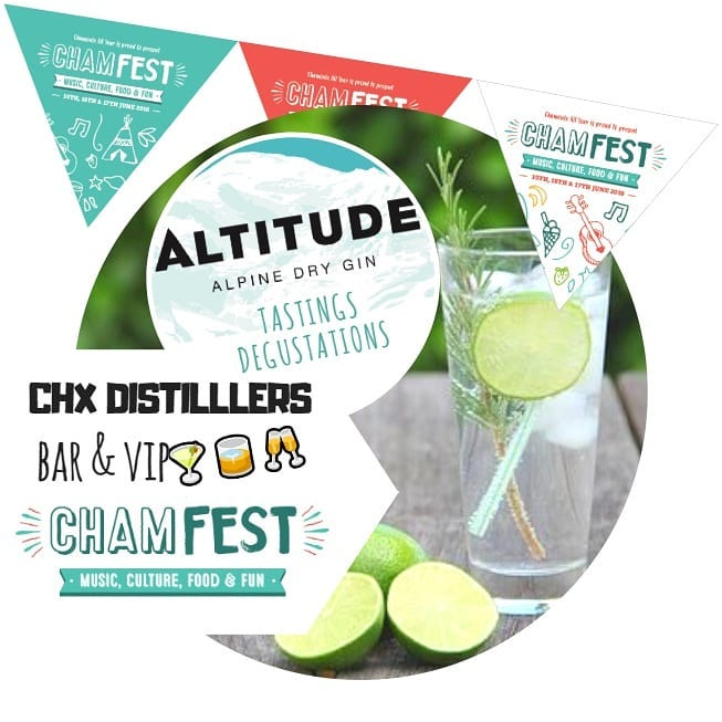 altitude gin launch chamfest music festival chamonix ski resort france