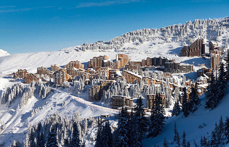 Looking over Avoriaz Ski Resort in the French Alps France