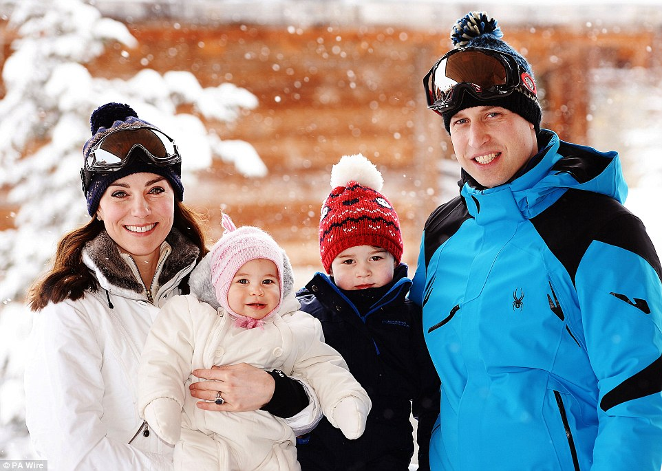 Duke and Duchess of Cambridge Skiing in Courchevel