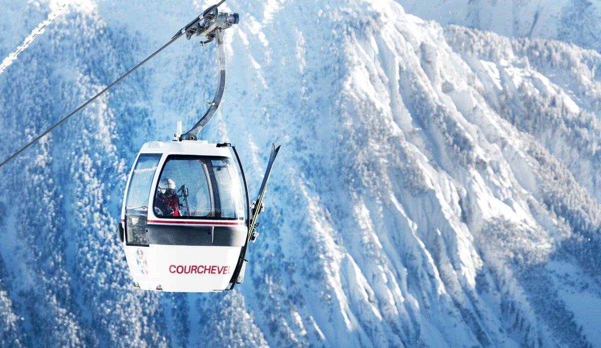 Courchevel ski gondola investment in resort