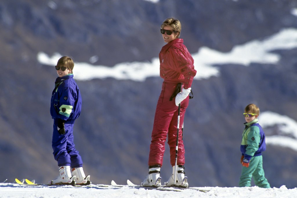Princess Diana Prince Harry William Skiing in Lech Austria