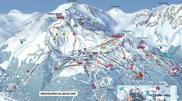 Les Arc ski resort france development