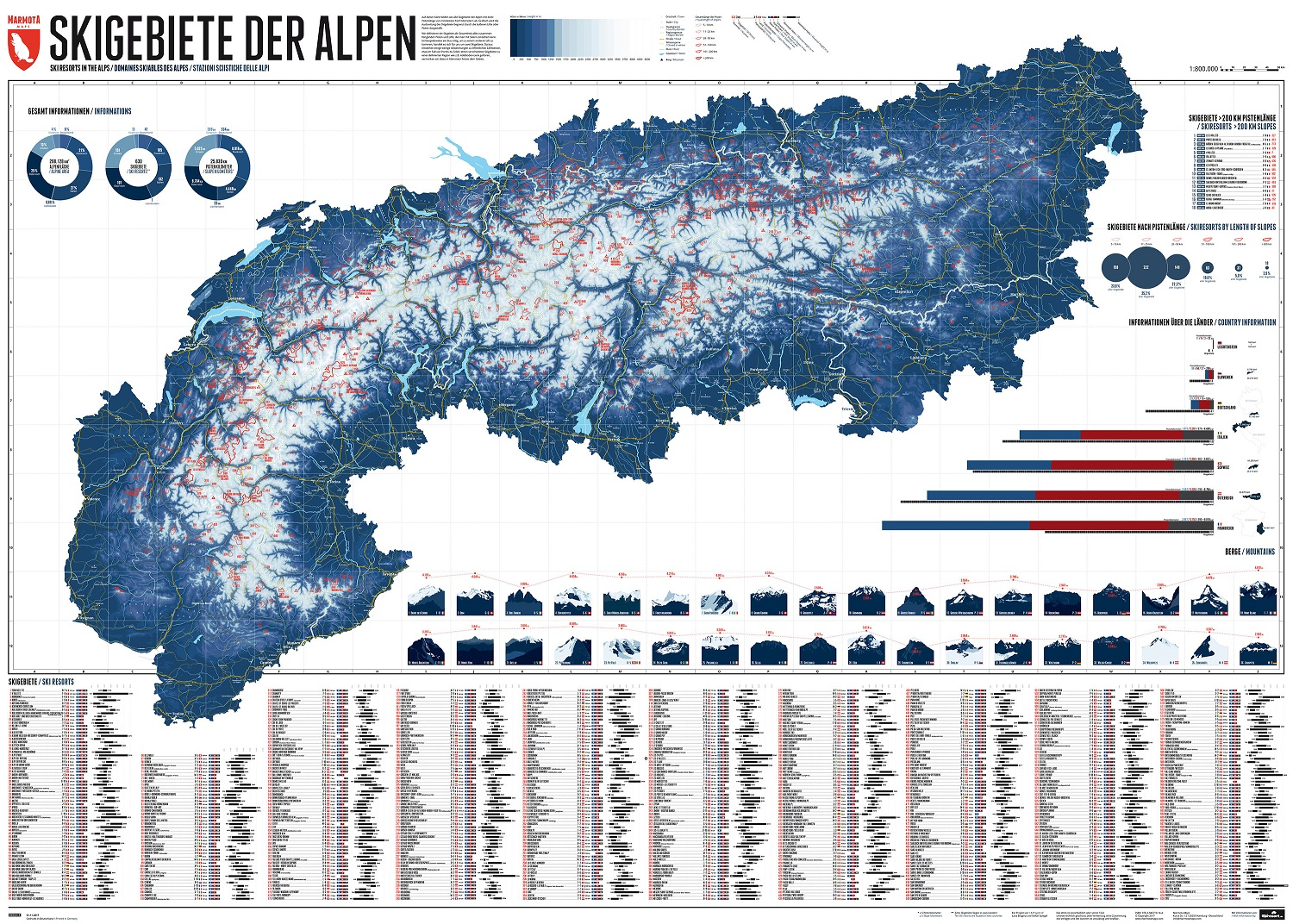 Competition Time! Win a 630 Ski Resorts Of the Alps Marmota Map