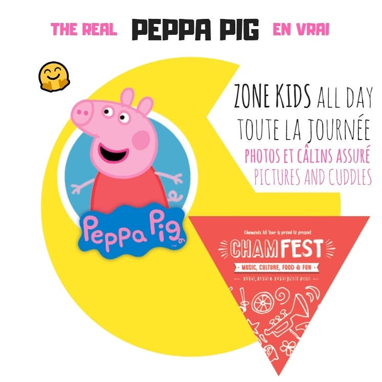 peppa pig chamfest music festival chamonix ski resort france