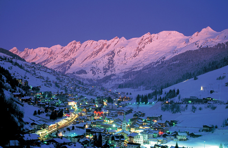View of Verbier Ski Resort in Switzerland